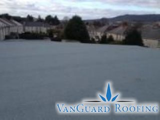 An example of a flat roof with a new deck and a built up bituminous waterproof covering
