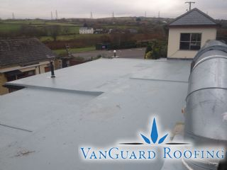 A GRP fibreglass flat roofing system is ideal for covering flat roofs with complex detailing and different levels