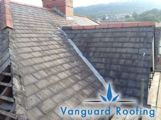 Existing degraded hipped roof