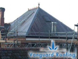 Existing slate roof