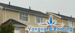 These pitched roofs and porches have been refurbished using marley concrete tiles